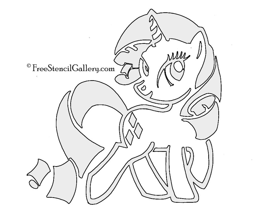 My Little Pony - Rarity Stencil