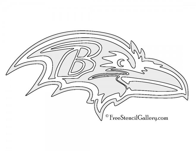 NFL Baltimore Ravens Stencil