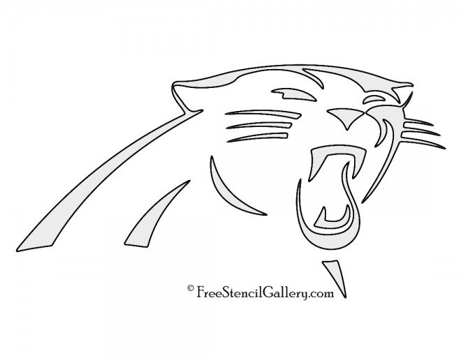 NFL Carolina Panthers Stencil