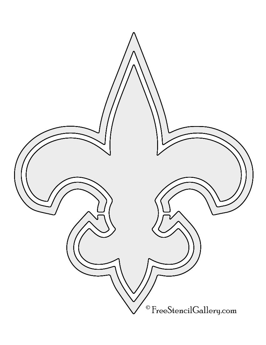 Nfl New Orleans Saints Stencil Free Stencil Gallery