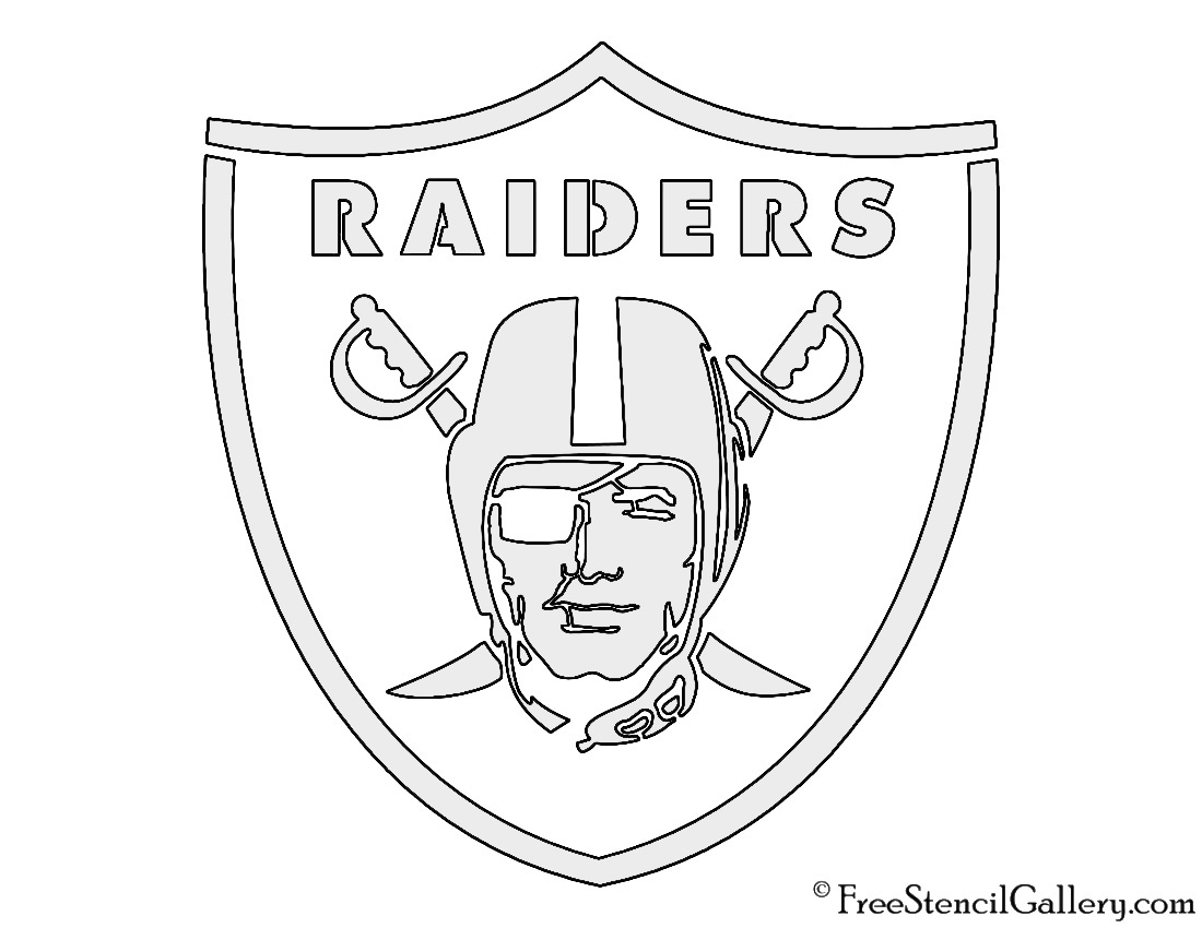 Oakland raiders coloring pages logo ~ Oakland Raiders Logo Coloring Pages Coloring Pages