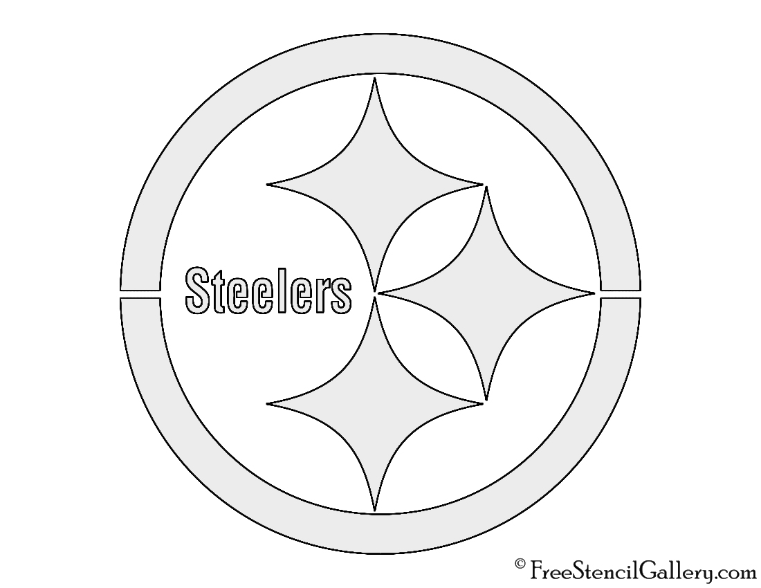 photo relating to Printable Steelers Logo titled NFL Pittsburgh Steelers Stencil Totally free Stencil Gallery