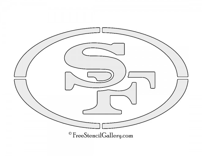 NFL San Francisco 49Ers Stencil