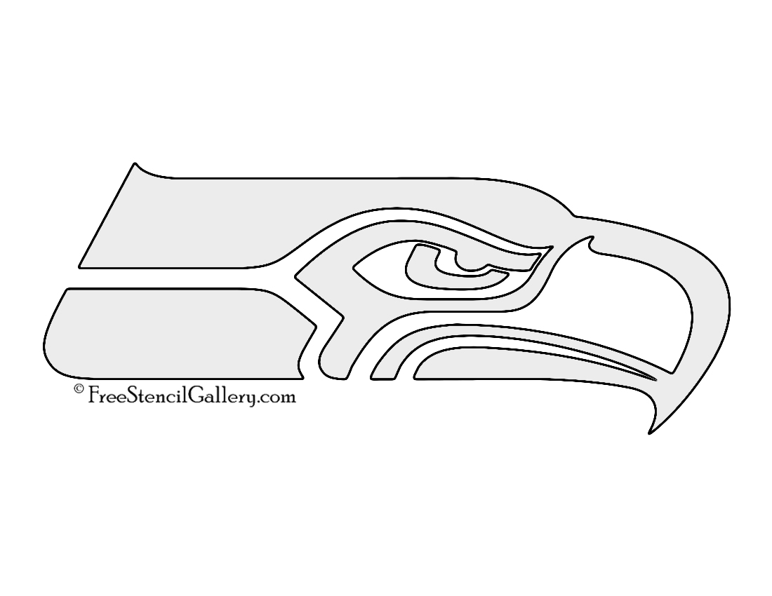 Nfl seattle seahawks stencil free stencil gallery for Seattle seahawks coloring pages