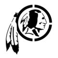 NFL Washington Redskins Stencil
