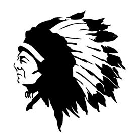 Native American Chief Stencil