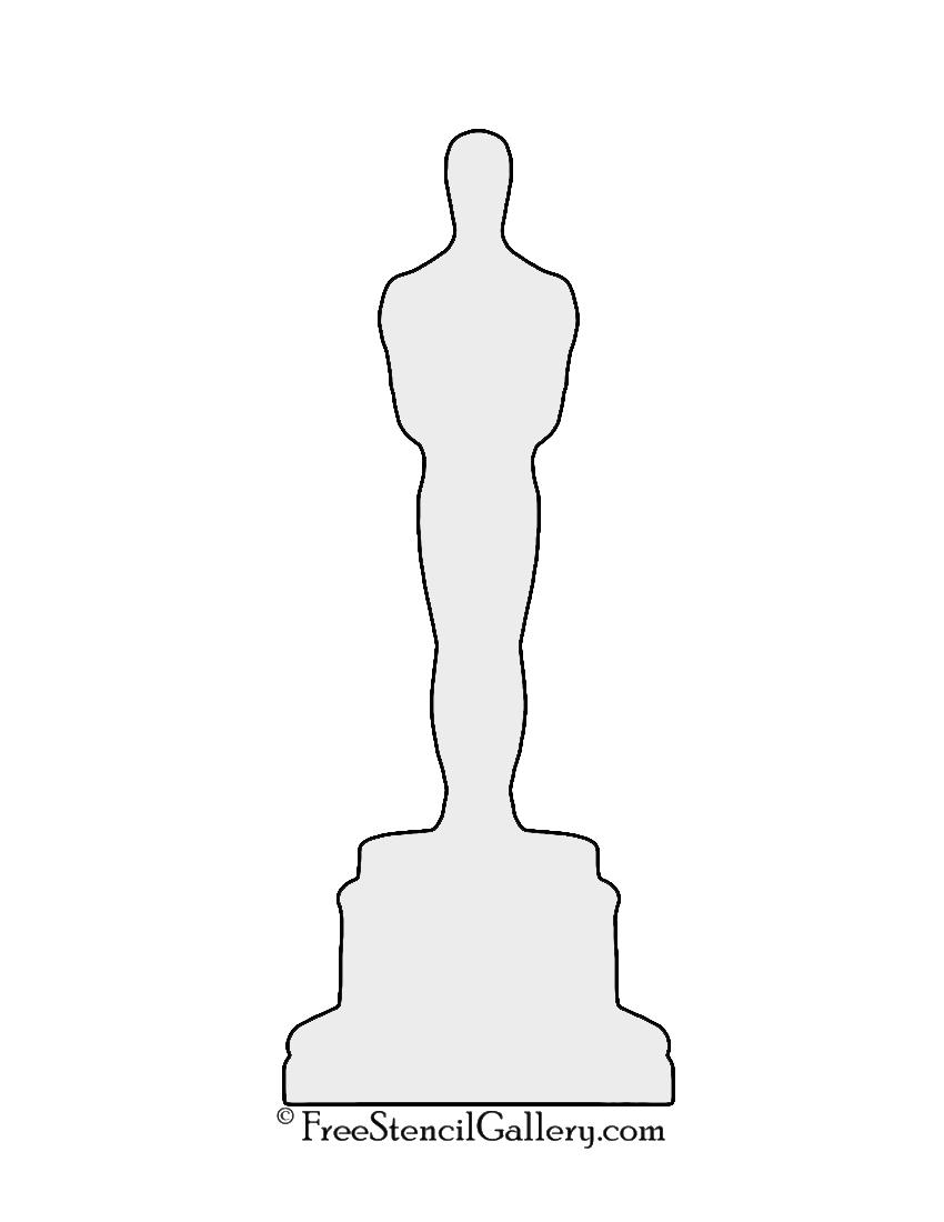Oscar Statue Silhouette Stencil