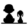 Peanuts - Snoopy and Charlie Brown Silhouette Stencil