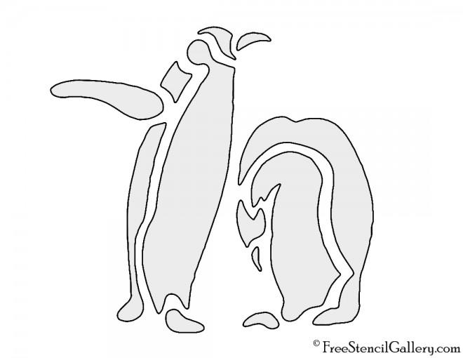 Penguin Stencil Free Stencil Gallery