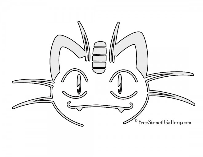 Pokemon - Meowth Stencil