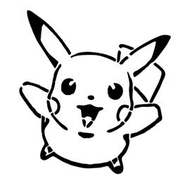 Pokemon – Pikachu Stencil 01