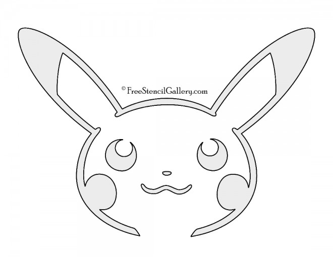 Pokemon pikachu stencil 02 free stencil gallery for Pokemon templates print