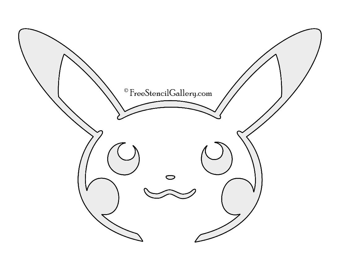 Pokemon - Pikachu Stencil 02