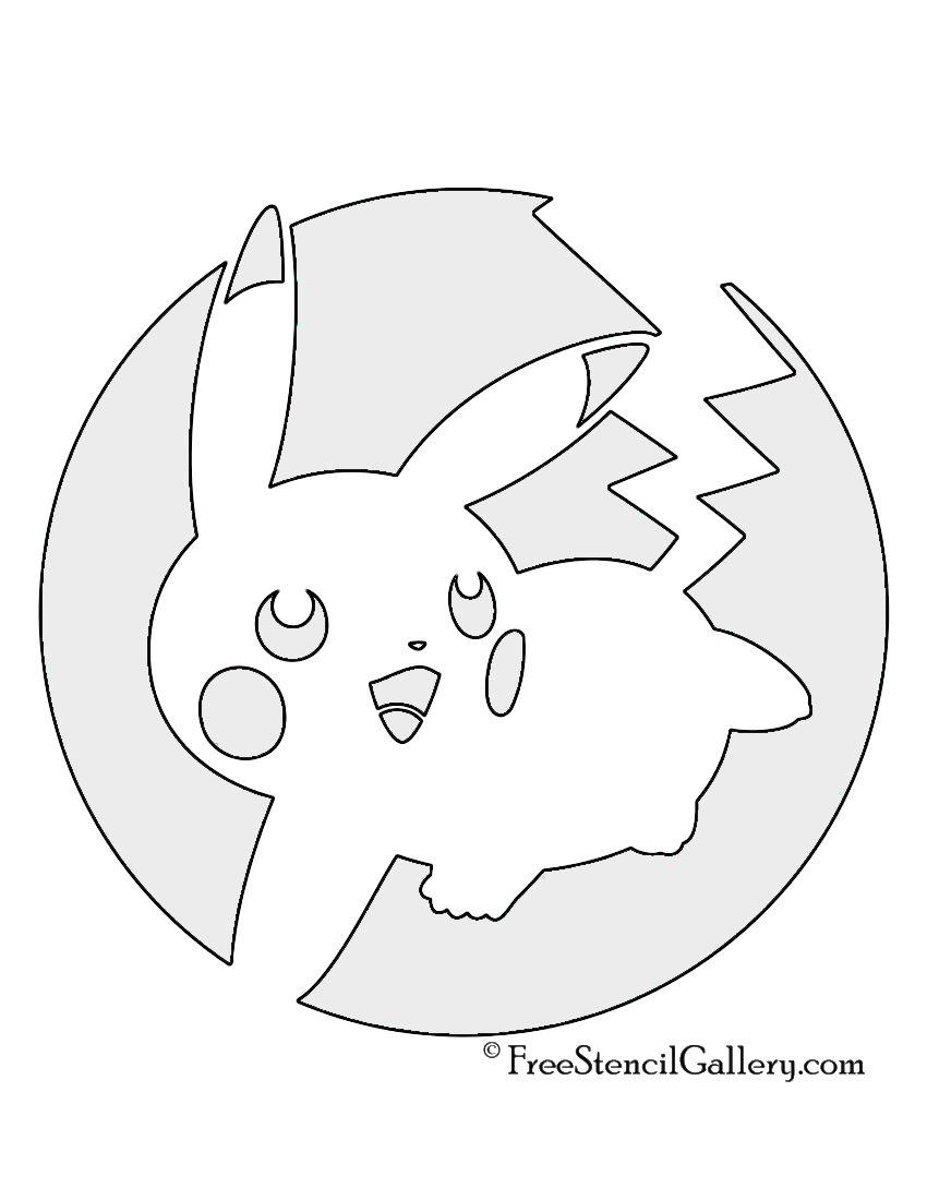 graphic regarding Pokemon Stencils Printable referred to as Pokemon - Pikachu Stencil 04 Free of charge Stencil Gallery