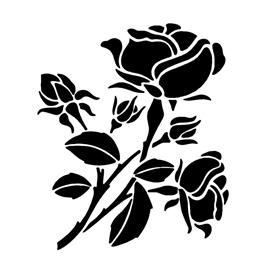 Rose Flower 02 Stencil