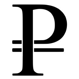 Russian Ruble Sign Stencil