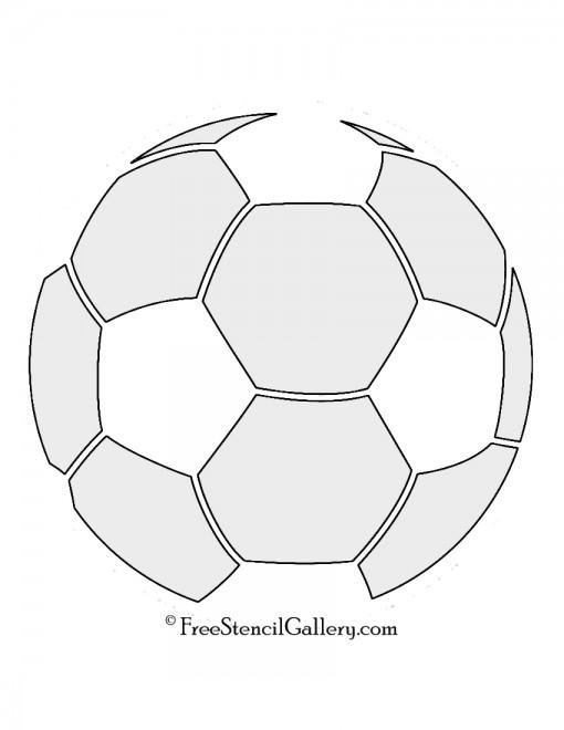 Soccer Ball Stencil