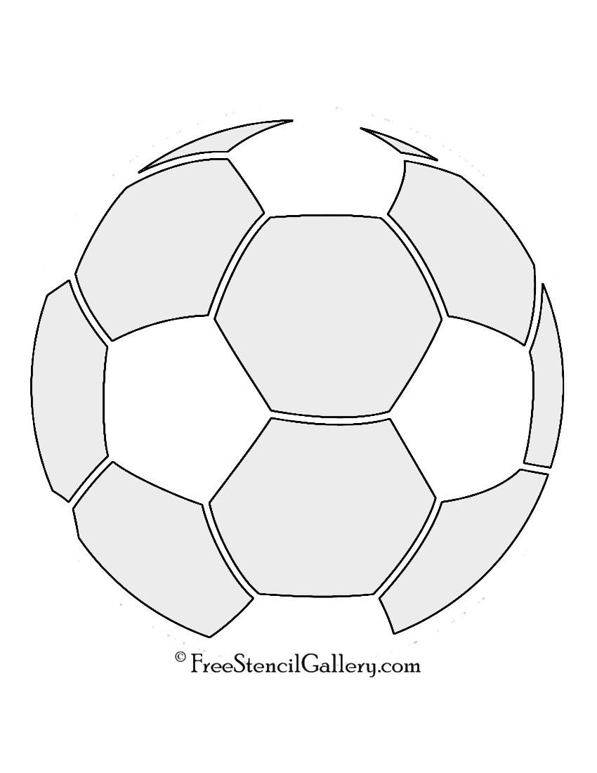 photograph about Soccer Ball Template Printable named Football Ball Stencil Free of charge Stencil Gallery