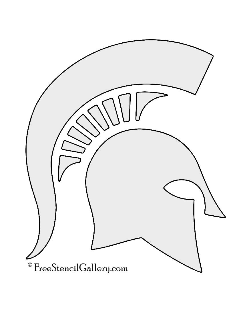 Spartan helmet stencil free gallery
