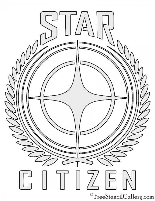 Star Citizen Logo Stencil