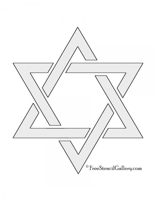Star of David Stencil