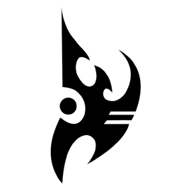 Starcraft Protoss Logo Stencil