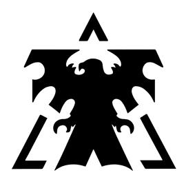 Starcraft Terran Logo Stencil