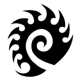 Starcraft Zerg Logo Stencil