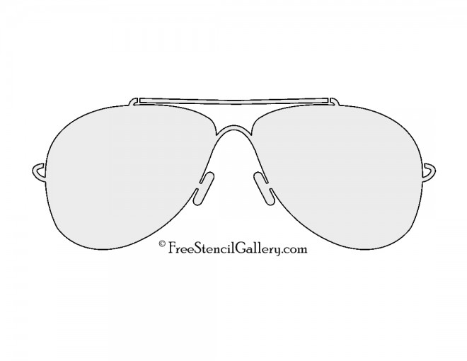 Sunglasses Stencil