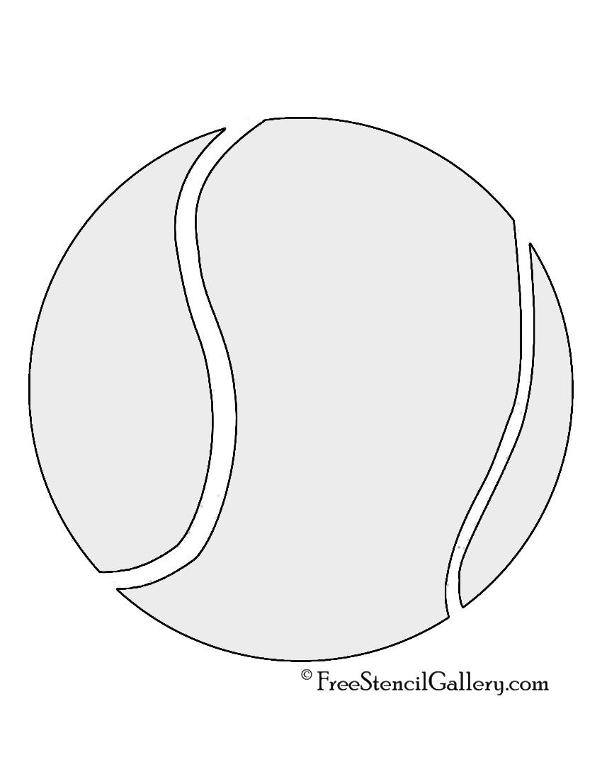 Tennis Ball stencil