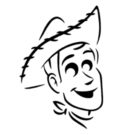 Toy Story – Woody Stencil