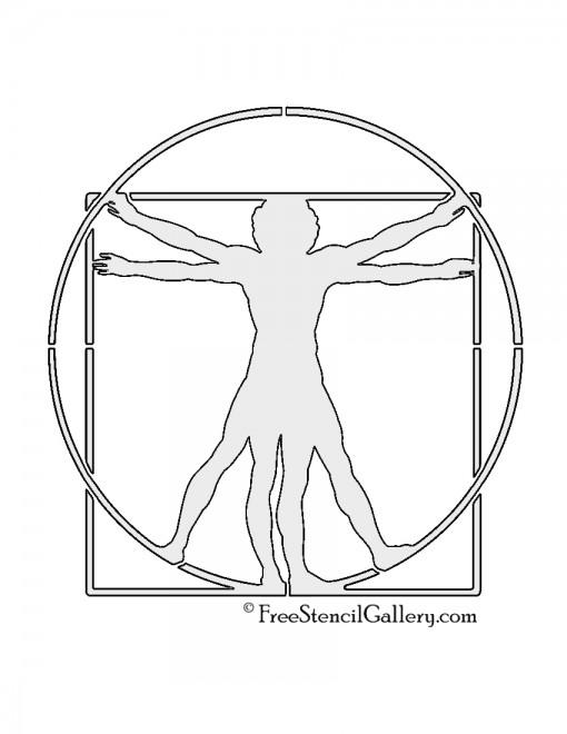 Vitruvian Man Stencil