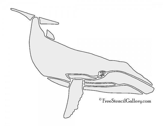 Whale 02 Stencil