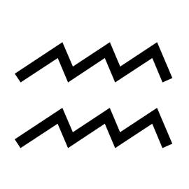 Zodiac – Aquarius Stencil