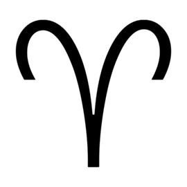 Zodiac – Aries Stencil