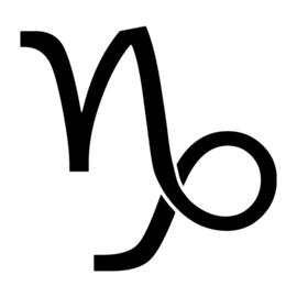 Zodiac – Capricorn Stencil