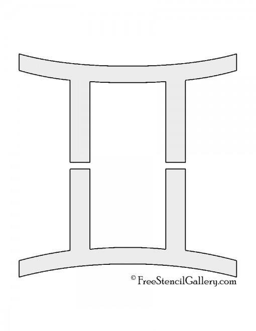 Zodiac - Gemini Stencil