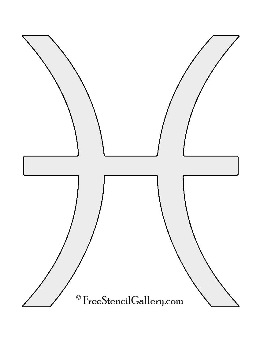 Zodiac - Pisces Stencil