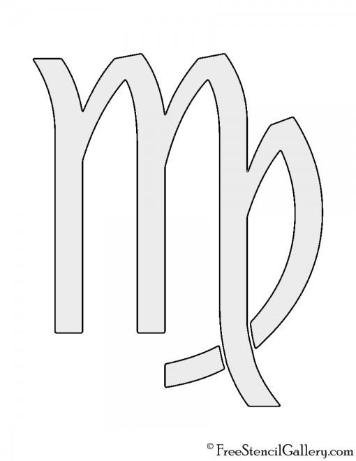 Zodiac - Virgo Stencil