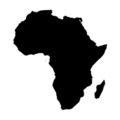 Africa Stencil