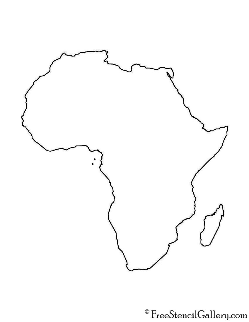 Africa Stencil   Free Stencil Gallery