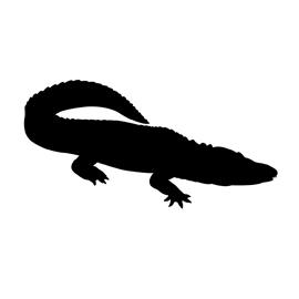 Alligator Silhouette 03 Stencil