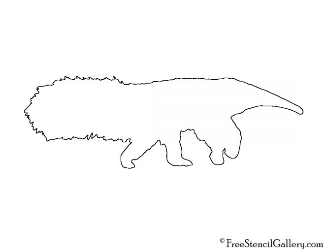 Anteater Silhouette Stencil