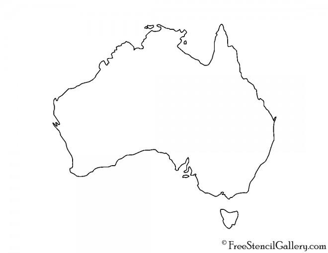 Australia Stencil