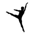 Ballet Dancer Silhouette Stencil