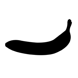 Banana Silhouette Stencil