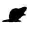 Beaver Silhouette Stencil