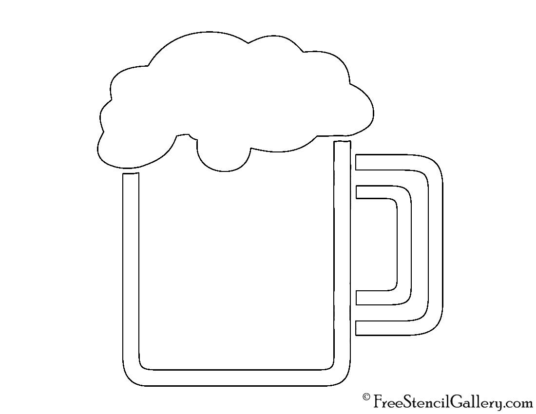 Beer Mug Stencil