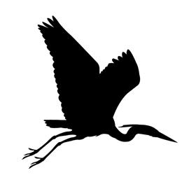 Blue Heron Silhouette Stencil