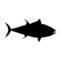 Bluefin Tuna Silhouette Stencil